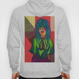 Color Blind - Bright Colorful Surreal Portrait of Woman, Painting Hoody