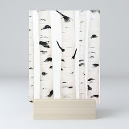 birch  watercolor Mini Art Print
