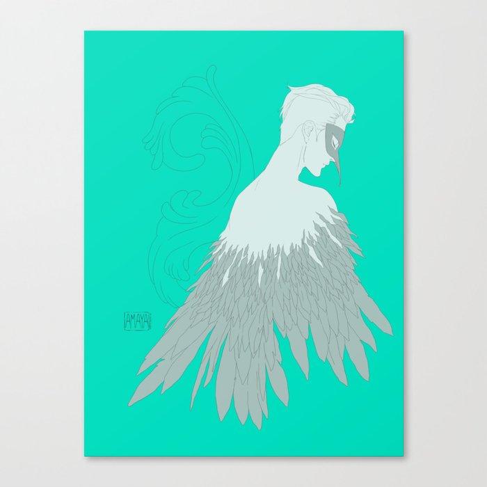 falling blue Canvas Print