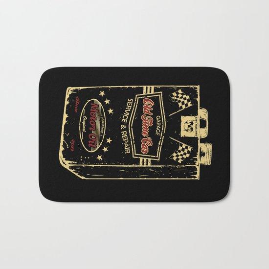 Old Time Car Oil Can  Bath Mat