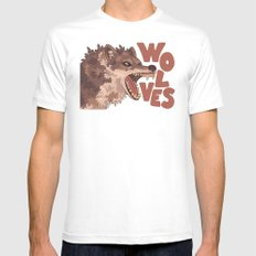Wolves White MEDIUM Mens Fitted Tee
