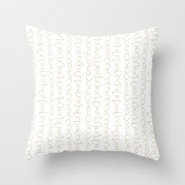 Beaded Curtain, Pattern in Gold Throw Pillow
