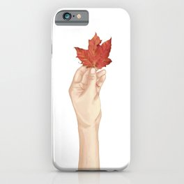 Holding the autumn iPhone Case