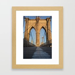 Brooklyn Bridge 1 Framed Art Print