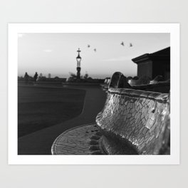 Park Güell at Dawn Art Print