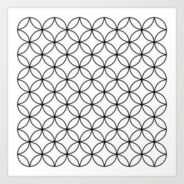 Circles Crossing - White Art Print