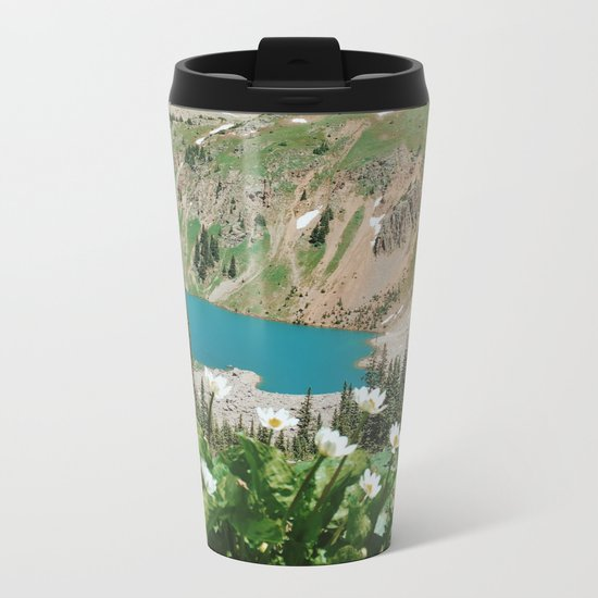 The Blue Lakes of Colorado Metal Travel Mug