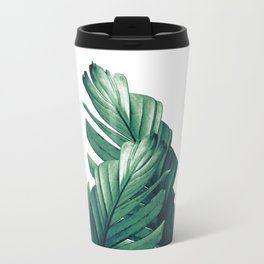 Green Banana Leaves Dream #1 #tropical #decor #art #society6 Travel Mug