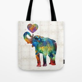 Colorful Elephant Art - Elovephant - By Sharon Cummings Tote Bag