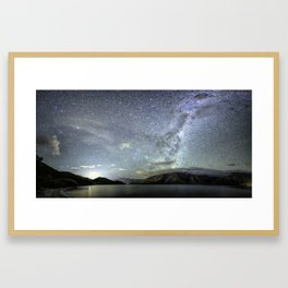 New Zealand Southern Hemisphere Skies Over Lake Wakatipu by OLena Art Framed Art Print