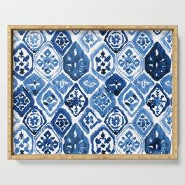 Arabesque tile art Serving Tray