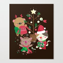Holiday Crew Canvas Print