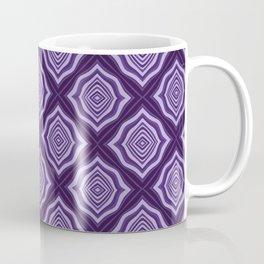 Diamond Pattern in purple Coffee Mug