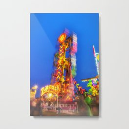 Caught in the Zipper Metal Print