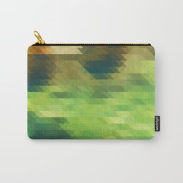 Green yellow triangle pattern, lake Carry-All Pouch