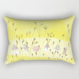 Entre las flores Rectangular Pillow