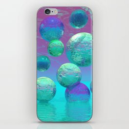 Ocean Dreams - Aqua and Indigo Ocean Universe iPhone Skin
