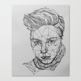 Geometry Girl Tester Portrait Canvas Print