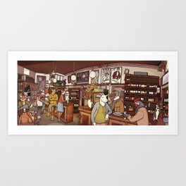 Friends at the Bar Art Print