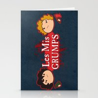les mis Stationery Cards featuring Les Mis Grumps by juanjoltaire