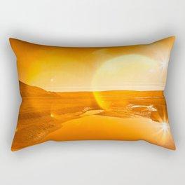 Twin Suns of Point Reyes - Gold Bokeh Bliss Rectangular Pillow