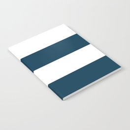 Navy Ocean Cabana Stripes Notebook
