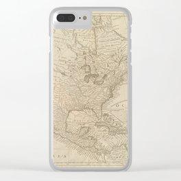 North Ameria 1743 Clear iPhone Case