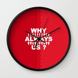 manchester united 8 Wall Clock