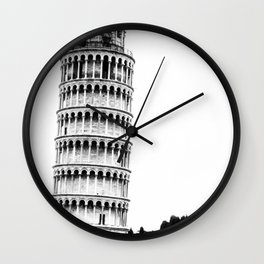 The Leaning Tower. Wall Clock