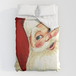 Cute laughing vintage santa Comforters