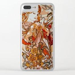 Art Nouveau design 2 Clear iPhone Case