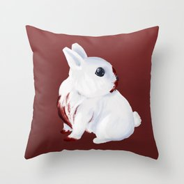 A Fearsome Monster - Monty Python, Cearbannog/Bunnicula Throw Pillow
