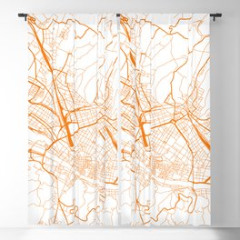 Street MAP Florence // Orange Blackout Curtain