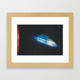 Blue Waffle Cone Framed Art Print