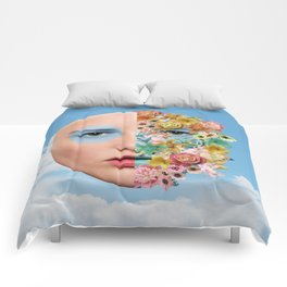 Goddess of Blossoms Comforters