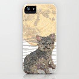 YORKIE, MOON, Yorkshire Terrier, Dog  iPhone Case