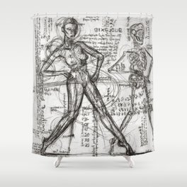 Clone Death - Intaglio / Printmaking Shower Curtain