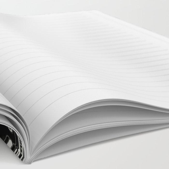 Black & White Folk Art Pattern Notebook