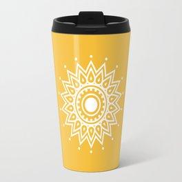 Yellow Mandala Travel Mug