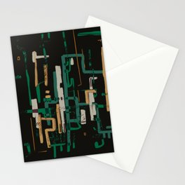 Abstract Composition 3-2 Stationery Cards
