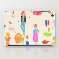 girls iPad Cases featuring Girls by melissa chaib