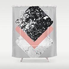 Geometric Textures 1 Shower Curtain