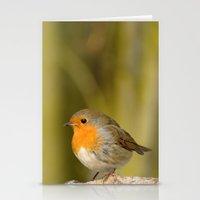 robin Stationery Cards featuring Robin by Susann Mielke