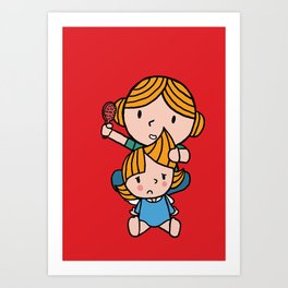 mom & daughter Art Print