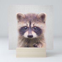 Raccoon - Colorful Mini Art Print