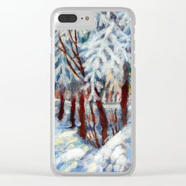 Snow in October by Dennis Weber / ShreddyStudio Clear iPhone Case