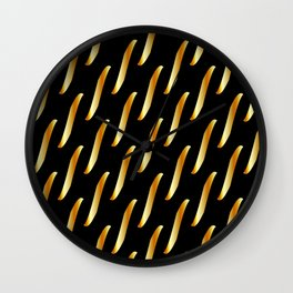 Gold link chain texture Wall Clock