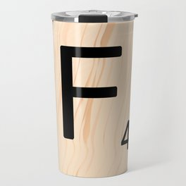 Letter F - Scrabble Art Travel Mug
