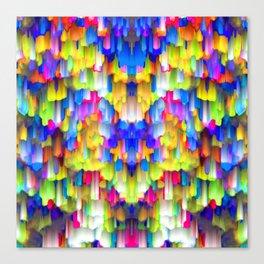 Colorful digital art splashing G395 Canvas Print