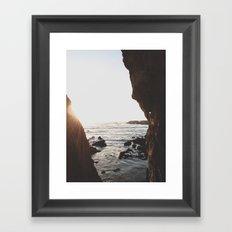 Shell Beach View Framed Art Print